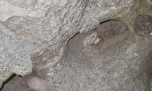Fotografie stropu jeskyně se výborně hodí jako nová struktura pleti